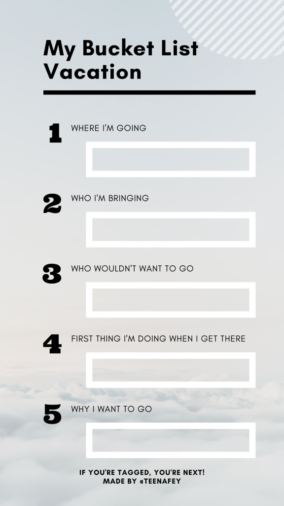My Bucket List Vacation Instagram Story Template